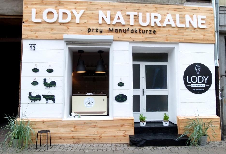 Lody naturalne przy Manufakturze