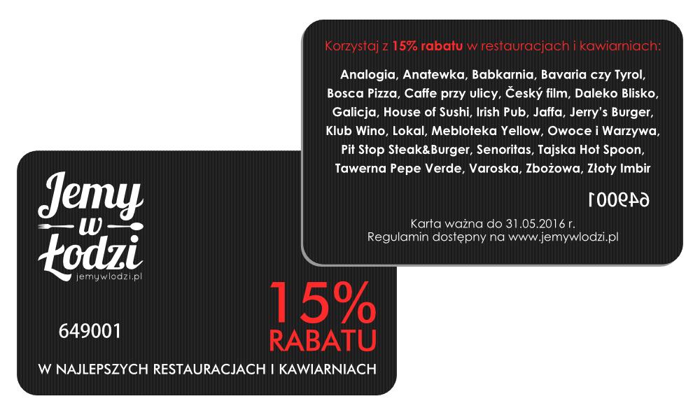 Karta rabatowa Jemy w Łodzi