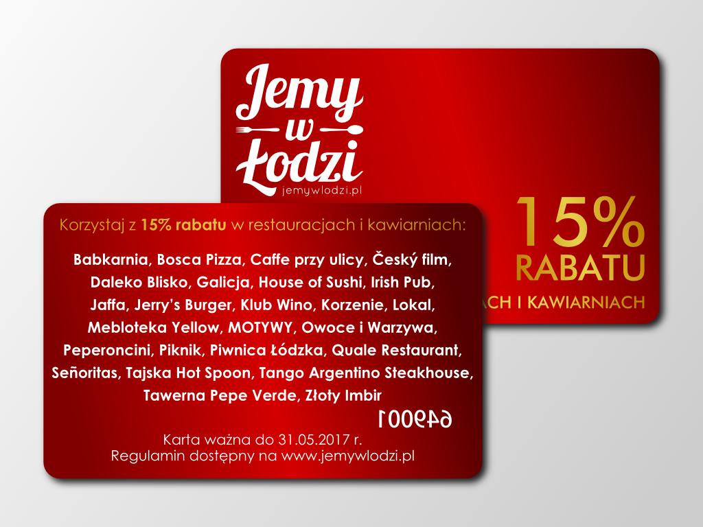 Prezentujemy tegoroczną edycję karty rabatowej Jemy w Łodzi