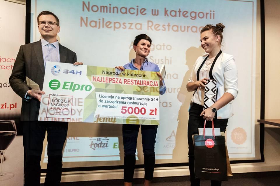 Wręczenie Łódzkiej Nagrody Kulinarnej restauracji Affogato