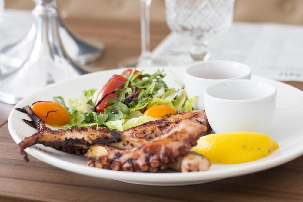 Świeże krewetki, ośmiornice i ryby latające - restauracja Cynamon