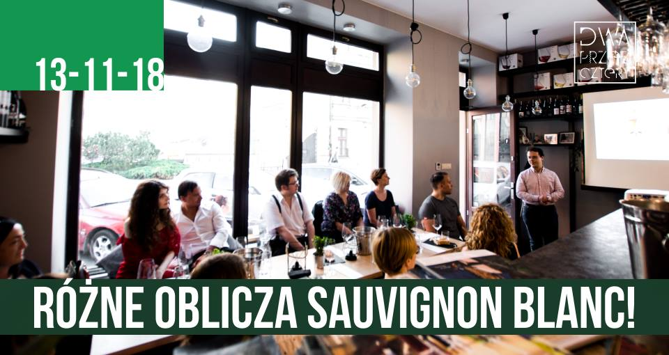 Degustacja Sauvignon Blanc w Dwa przez Cztery wine bar