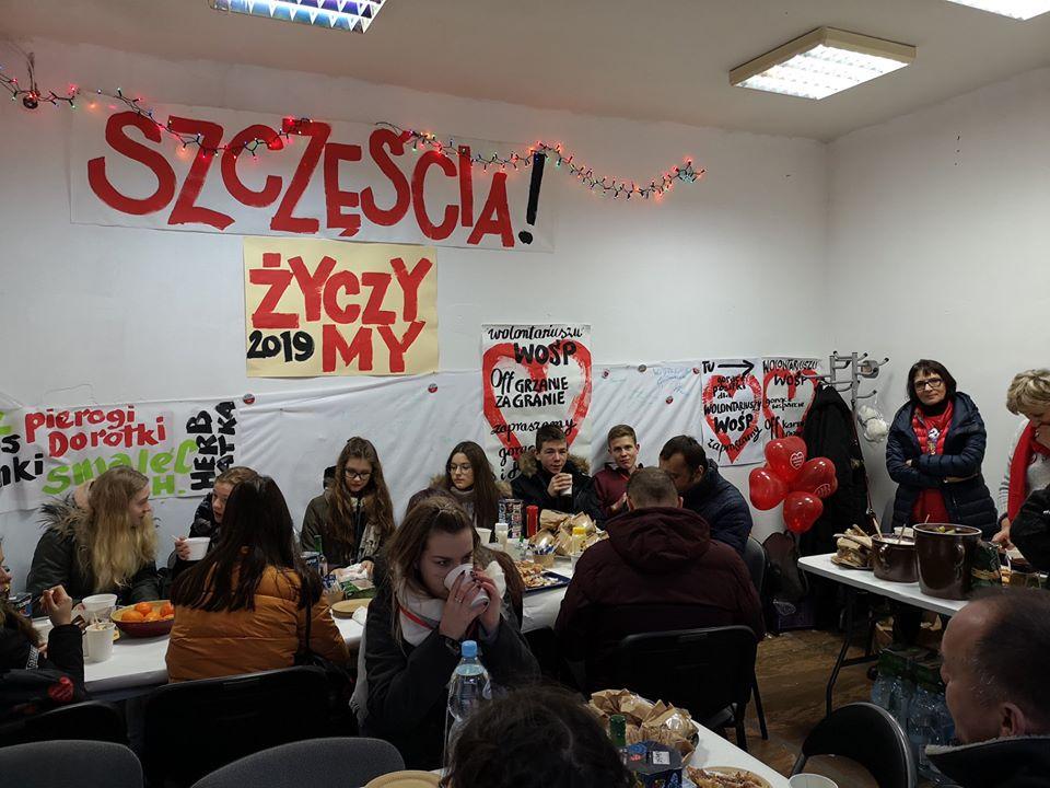 Przystań dla wolontariuszy WOŚP na OFF Piotrkowska