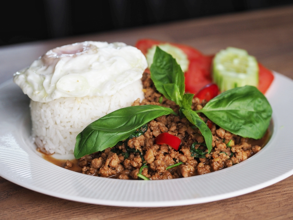 Mały TAJ - siekana wieprzowina z chili i tajską bazylią
